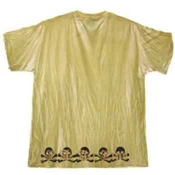 L A Airline Die on Your Feet mustard t-shirt LAIR9182