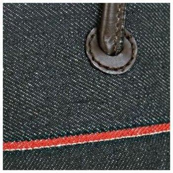 Evisu Selvedge Denim Mini Shopper Bag with Leather Handles EVIS0842