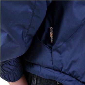 Burberry zip front jacket petrol