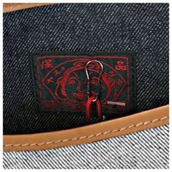 Evisu Womens Reversed Denim Mini Shopper Bag with Red Seagull Logo EVIS3325