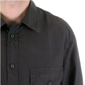 CP Company long sleeve mens washed charcoal Shirt. CP6775