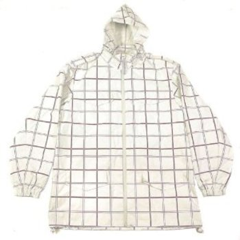 Yoropiko Martin Yat Ming Regular Fit Hooded White and Coffee Checked Functional Jacket REDM3168