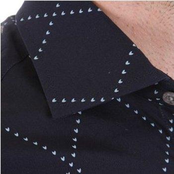 Pringle mens shirt long sleeve dark navy shirt. PRNG1875