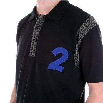 Fake London Genius black pique polo shirt. FAKE0965