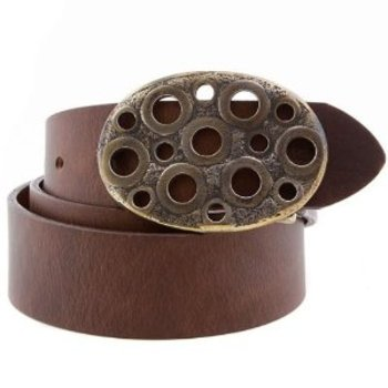 Paul Smith belt Mens chocolate brown leather belt PS1435.