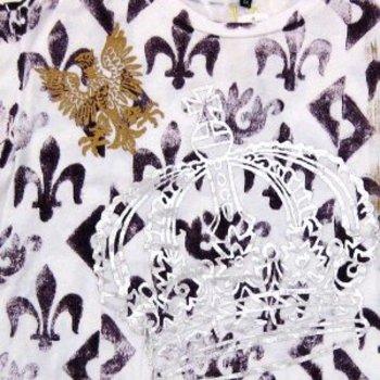 LA Airline hand printed Fleur de Lyes t-shirt LAIR3818