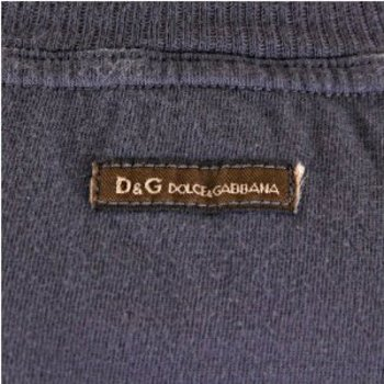 D&G t-shirt Dolce & Gabbana washed grey slim fit top DGM3024