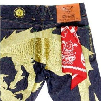Yoropiko Cotton Red Bandana With Printed Logo YORO2949