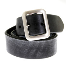 Sugar Cane Mens F01406 Black Leather Vintage Finish Casual Belt CANE1141