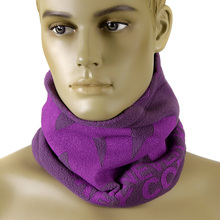 RMC Deep Purple ReversibleToggle and Pull Cord Closure Equipped Neck and Head Warmer Snood REDM5497