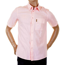 Armani Jeans short sleeve shirt washed salmon cotton F6Z0 5GS AJM4819