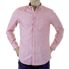 Armani Jeans shirt long sleeve red button down collar L62 5DR AJM1404