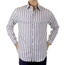 Armani shirt mens long sleeve striped shirt H2238L 63563 GAM0640