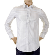 D&G mens Shirt Dolce & Gabbana grey striped shirt RS0150 TN5FV DGM0971