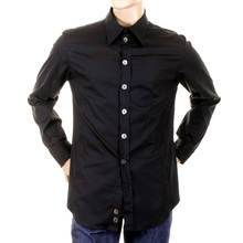 Armani black stretch shirt H2198L 17513 GAM3511