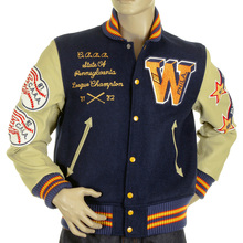 Sugar Cane Whitesville Letterman Philadelphia Wild Cats stadium jacket WV11793 126 WHIT4228