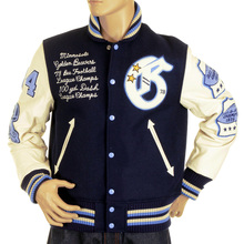 Stadium jacket Sugar Cane Whitesville Letterman Golden Beaver  jacket WV11793 128 WHIT4231