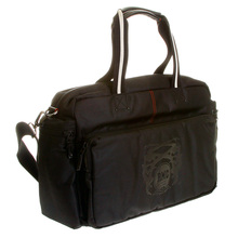 RMC Jeans Hand Held Unisex Black Nylon Despatch Bag with Leather Base and Trim REDM5531