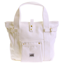 RMC MKWS Versatile Unisex 100% Cotton Canvas Hand Carry Bag in White REDM5586