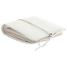 RMC Jeans Mens Shoe Lace Tie Closure Italian Grain Leather Wallet in White REDM5724