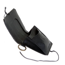 RMC Jeans Black Leather Horse Hair Pouch Wallets with Shoe Lace Tie Closure for Men REDM5770