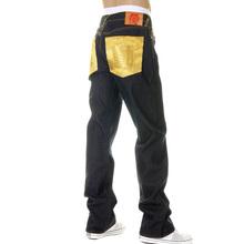 RMC Martin Ksohoh Mens Dark Indigo Super Exclusive Raw Denim Jeans with ERIC SO02 Gold Embroidery REDM3111