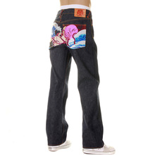 RMC Martin Ksohoh jeans The Dream of the Fisherman's Wife Octopus multi colour jean REDM2967