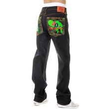 RMC Martin Ksohoh x YAKULT Super Exclusive Dark Indigo Raw Denim 40th Anniversary Embroidered Jeans REDM3975