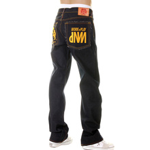 RMC Martin Ksohoh Super Exclusive Design Work N Play Gold Embroidered Dark Indigo Raw Denim Jeans REDM3731