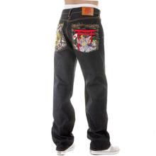 RMC Martin Ksohoh Vintage Cut House Selvedge Dark Indigo Raw Denim Jeans with Harvest Buddha Embroidery REDM2893