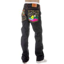 RMC Jeans Super Exclusive Vintage Cut Dark Indigo House Selvedge Denim Crane Go Home Embroidered Jeans REDM2898