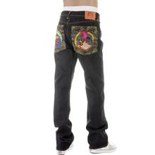 RMC Martin Ksohoh Mens Dark Indigo Super Exclusive Vintage Cut Raw Selvedge Jeans with Crane Embroidery REDM2889