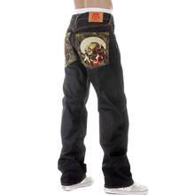 RMC Martin Ksohoh Mens Dark Indigo 09 Vintage Cut Raw Selvedge Jeans with Fujin and Raijin Embroidery REDM2899