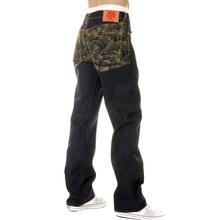 RMC Martin Ksohoh Dark Indigo Vintage Cut Raw Selvedge Denim Jeans with Gold Tsunami Wave Embroidery REDM6215