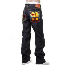 RMC Jeans Limited Edition Dark Indigo FIFA World Cup Vintage Cut Selvedge Raw Denim Jeans for Men REDM0003
