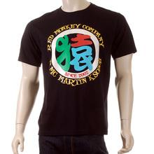 RMC Martin Ksohoh 4A Regular Fit Black Short Sleeve Crew Neck T-shirt for Men REDM3966