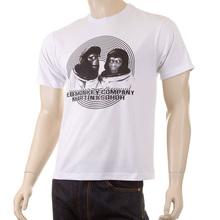RMC Martin Ksohoh Mens Regular Fit Short Sleeve Crew Neck Ape Eye Printed T-Shirt in White REDM5031