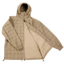 Yoropiko Martin Yat Ming Regular Fit Hooded Coffee Checked Functional Jacket REDM3170