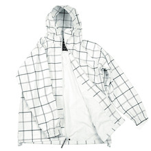 Yoropiko Red Monkey Jeans Regular Fit Hooded Functional Jacket with White and Grey Checks REDM3169