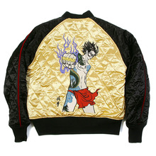 Yoropiko x RMC Jeans Fully Reversible Gold and Black Embroidered 4A Hero Souvenir Jacket YORO2140