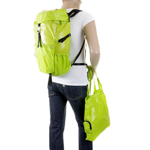 RMC Martin Ksohoh MKWS Unisex Lightweight Nylon Backpack in Lime with Top Flap Clip Closure REDM2273