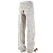 Armani Jeans P61 loose leg cotton and hemp mens mix pant AJM0821