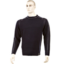 Thug or Angel Sweater Men's Jet Black collection dark navy crew neck knitted jumper. JBLK3954