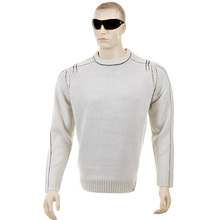Thug or Angel Sweater Men's Jet Black collection putty crew neck knitted jumper. JBLK3955