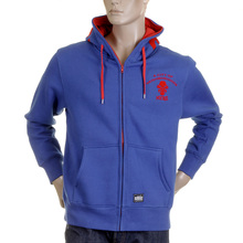 RMC Martin Ksohoh MKWS Empire Monkey Flock Printed Blue Hooded Zipped Regular Fit Sweatshirt REDM2328