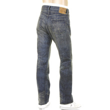 Sugar Cane Hawaiian hard worn wash, SC40401H Japanese selvedge denim jeans CANE4071