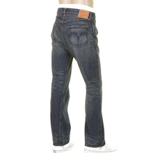 Sugar Cane Mens SC41947H Hard Dark Wash African Cotton Vintage Cut Japanese Selvedge Denim Jeans CANE5254