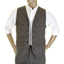 Sugar Cane Fiction Romance SC12243 covert engineer 40s model waistcoat vest CANE0251