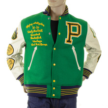 Sugar Cane's WV12077 Whitesville 30oz Wool melton set in award Letterman Flying Alligators stadium jacket CANE2102