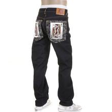 RMC Jeans Poker Super Exclusive Model 1001 Slim cut Dark Indigo Raw Denim Jeans for Men REDM2268